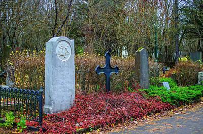 Photograph - Holvallagardur Cemetery Reykjavik 6 by Deborah Smolinske