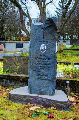Photograph - Holvallagardur Cemetery Reykjavik 7 by Deborah Smolinske