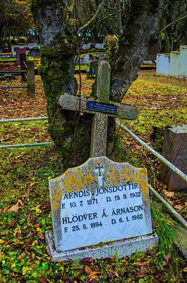 Photograph - Holvallagardur Cemetery Reykjavik 8 by Deborah Smolinske