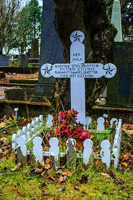 Photograph - Holvallagardur Cemetery Reykjavik 9 by Deborah Smolinske
