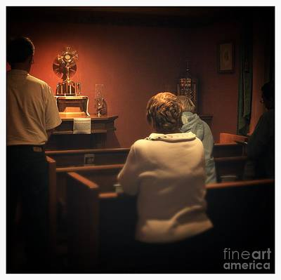 Frank J Casella Royalty-Free and Rights-Managed Images - Holy Adoration Altar by Frank J Casella