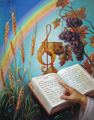 Painting - Holy Bible - The Gospel According To John by Svitozar Nenyuk