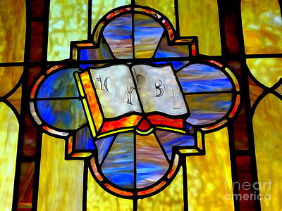 Mixed Media - Holy Bible Window by Ed Weidman