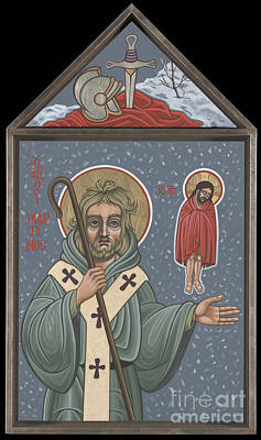Painting - Holy Bishop St Martin Of Tours 210 by William Hart McNichols