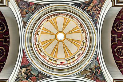 Photograph - Holy Chapel Ceiling by Maria Coulson