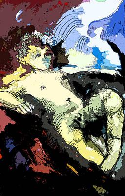 Manger Digital Art - Holy Child by Mindy Newman