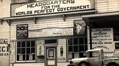 Photograph - Holy City World Government Santa Clara County California 1938 by Peter Gumaer Ogden Collection