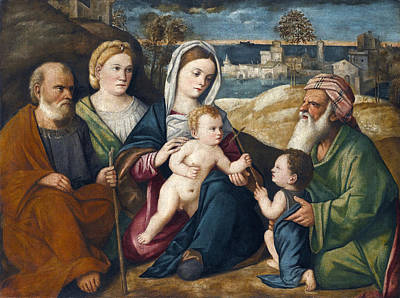 Painting - Holy Conversation by Pietro degli Ingannati