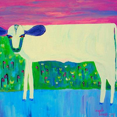 Painting - Holy Cow by Angela Annas