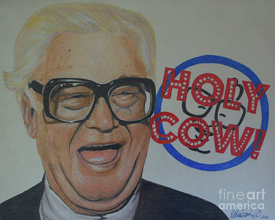 Drawing - Holy Cow by Melissa Goodrich