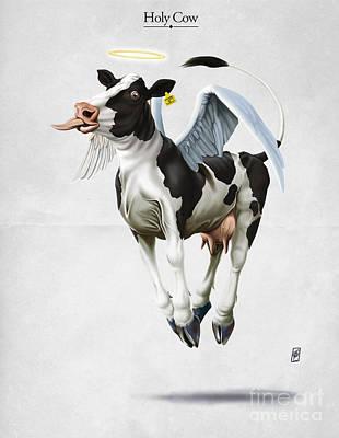 Digital Art - Holy Cow by Rob Snow
