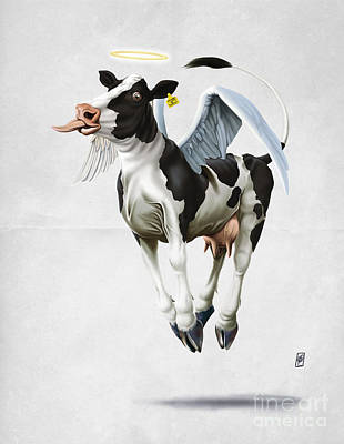 Digital Art - Holy Cow Wordless by Rob Snow