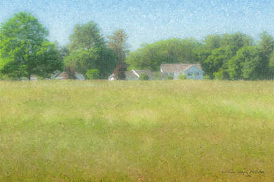 Painting - Holy Cross Retreat House At Stonehill College by Bill McEntee