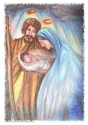 Holy Family - Christian - Catholic Painting Art Print by Remy Francis