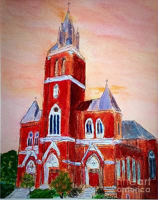 Painting - Holy Family Church by Anne Sands