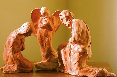 Sculpture - Holy Family by Deborah Dendler