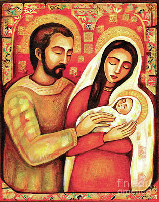 Blissful Painting - Holy Family by Eva Campbell