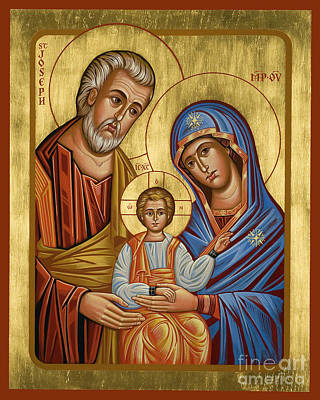 Painting - Holy Family - Jchfl by Joan Cole