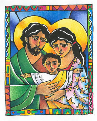 Painting - Holy Family - Mmhfa by Br Mickey McGrath OSFS