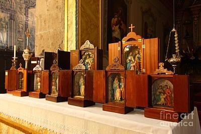 Church Display Photograph - Holy Family Shrines  by Gaspar Avila