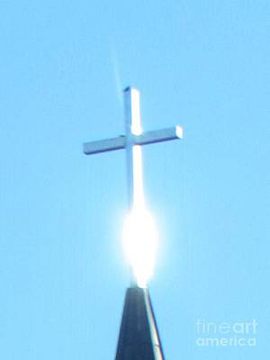 Photograph - Holy Ghost On Church Cross by Delynn Addams