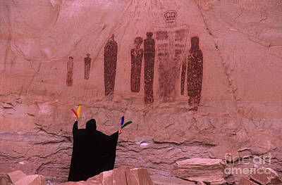 Ghost Drawing Photograph - Holy Ghost Petroglyph Into The Mystic by Bob Christopher