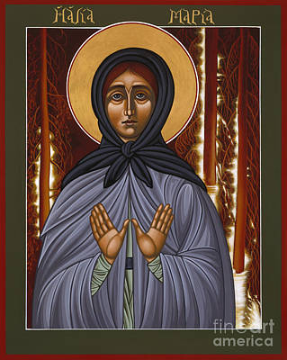Painting - Holy Hermitess Maria Of Olonets 101 by William Hart McNichols