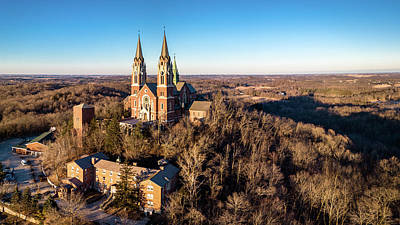 Photograph - Holy Hill In January by Randy Scherkenbach