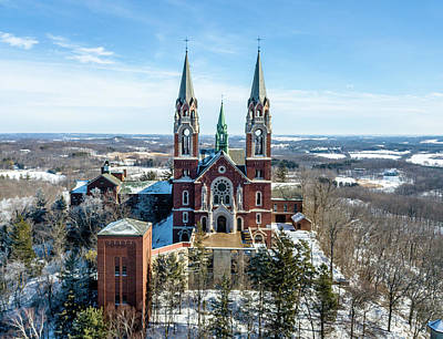 Photograph - Holy Hill In The Snow by Randy Scherkenbach