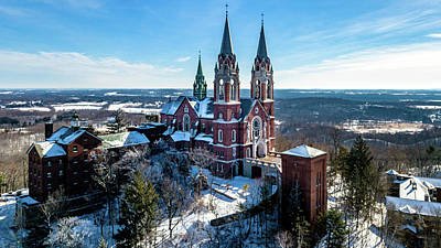 Photograph - Holy Hill Side View by Randy Scherkenbach