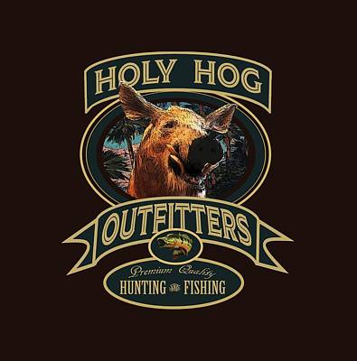 Digital Art - Holy Hog by Peggy Novak