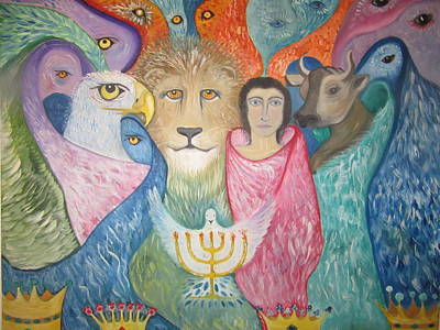Lion Of Judah Painting - Holy Holy Holy  by Rachael Pragnell