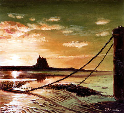 Holy Island Art Print by James Richardson