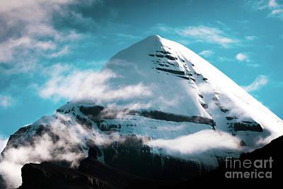 Mandala Photograph - Holy Kailas Himalayas Mountain Tibet Yantra.lv by Raimond Klavins