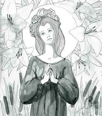 Olivia Painting - Holy Lady by Olivia Sementsova