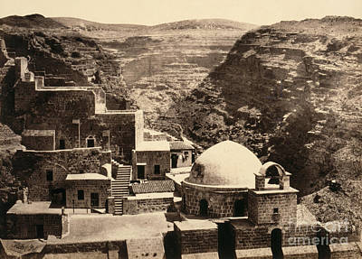 Photograph - Holy Land, Mar Saba, C1860.  by Granger