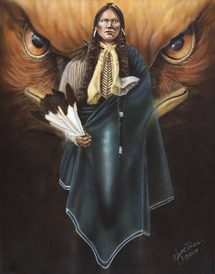 Eagle Painting - Holy Man by Wayne Pruse