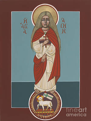 Painting - Holy Martyr St Agnes Lamb Of God 243 by William Hart McNichols