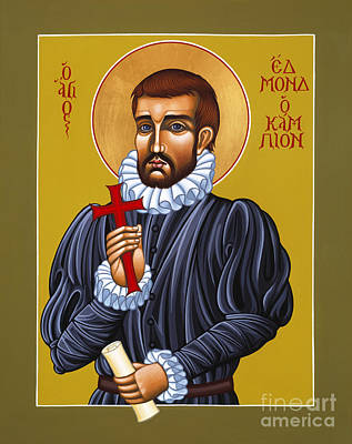 Painting - Holy Martyr St Edmund Campion 103 by William Hart McNichols