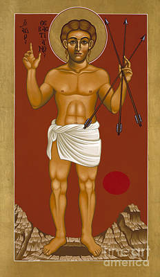 Painting - Holy Martyr St Sebastian 032 by William Hart McNichols