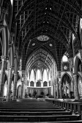 Holy Name Cathedral Chicago Bw 04 Art Print