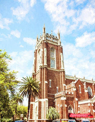 Holy Name Of Jesus Church - St. Charles Ave. Art Print by Scott Pellegrin