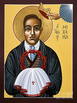 Painting - Holy New Martyr Padre Miguel Pro 119 by William Hart McNichols