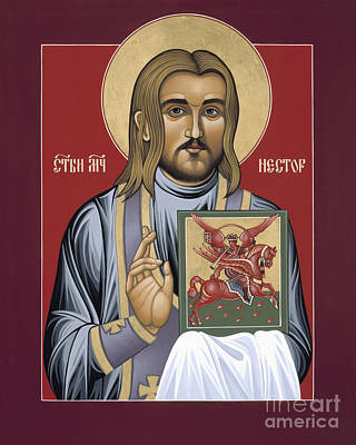 Painting - Holy New Martyr St Nestor Savchuk 069 by William Hart McNichols