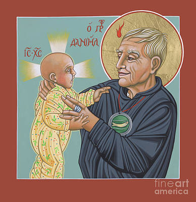 Painting - Holy Prophet Daniel Berrigan 291 by William Hart McNichols