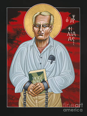 Painting - Holy Prophet Philip Berrigan 125 by William Hart McNichols