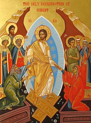 Byzantine Painting - Holy Resurrection Of Christ by Andreea Bagiu