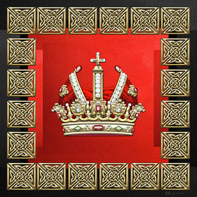 Digital Art - Holy Roman Empire Imperial Crown  by Serge Averbukh