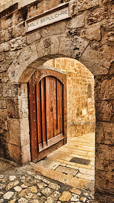 Sepulchre Photograph - Holy Sepulchre Entrance by Stephen Stookey