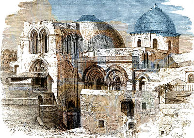 Photograph - Holy Sepulchre In Jerusalem by Munir Alawi